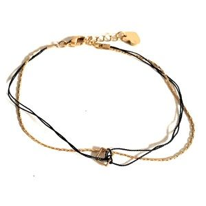 Jewelry - Gold and black bracelet